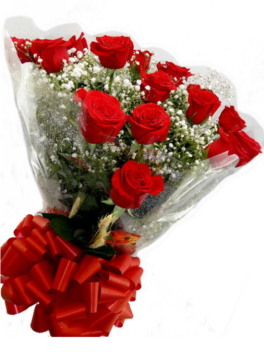 BOUQUET de 12 Rosas Importadas